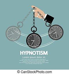 utilisation, hypnotisme, clock.