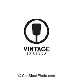 utilisation, icône, restaurant, spatule, conception, logo