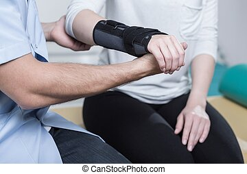 utilisation, poignet, immobiliser