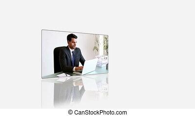 utilisation, recouvrement, business, vidéos, gens