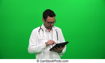utilisation, tablette, docteur