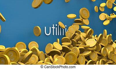 Utilities cost increasing animation.