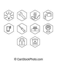 Utility icon set