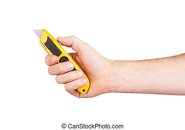 Utility knife isolated on a white background