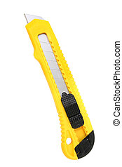 Utility Knife - Yellow and black utility knife with break ...