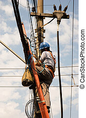 Utility Worker #2 - Unrecognisable utility worker (shot ...