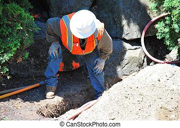 Utility worker.
