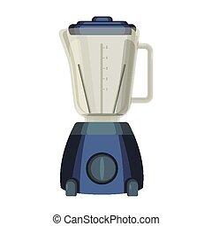utilizado, alimento, aparato, liquidiser, mezcla, emulsify, cocina, o, licuadora