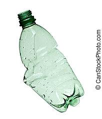 utilizado, ambiente, ecología, botella, basura, vacío