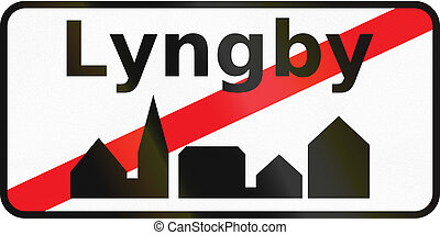 utilizado, fin, área, dinamarca, -, urbanizado, señal, ...