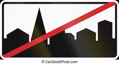 utilizado, fin,  área,  -, urbanizado, señal, Suecia, camino
