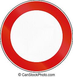 utilizado, italia, vía pública, no, -, señal, camino