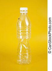 utilizado, vacío, botella, plástico
