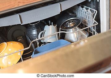 utilizar, lavaplatos