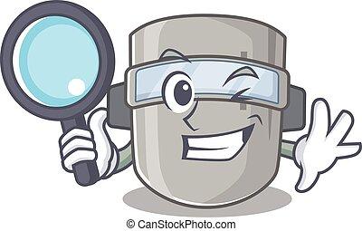 utilizar, soldadura, herramientas, caricatura, imagen, ...