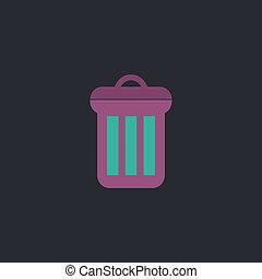 utilize Color vector icon on dark background