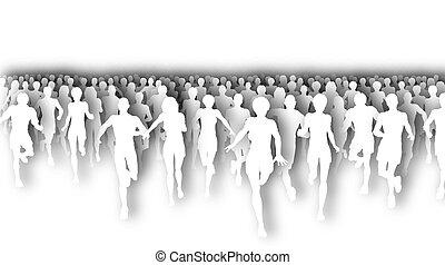 utklippsfigur, maraton