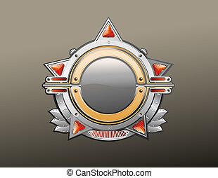 utmärkelsetecken, -, stjärna, shaped.
