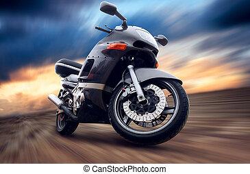 utomhus, hastighet, motorcykel