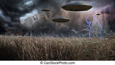 utomjordiskt väsen, invadera