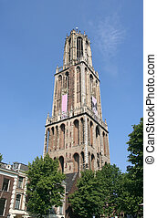 Utrecht Cathedral - Utrecht cathedral, highest church tower...