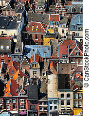 Utrecht city areal view - Areal view of the colorful Utrecht...