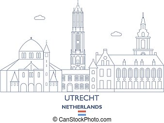Utrecht City Skyline, Netherlands