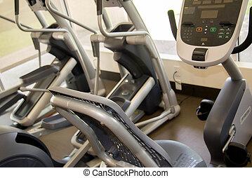 utrustning, gymnastiksal, cardio