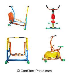 utrustning, utomhus,  fitness