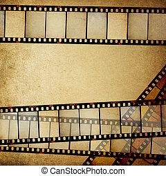 utrymme, årgång, text., bakgrund, positiv, filmer, empy