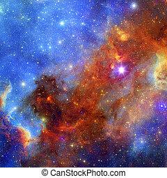 utrymme, nebulosa, bakgrund