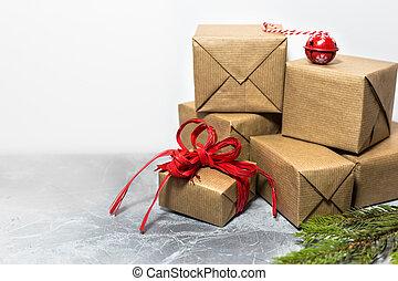 utrymme, text, bakgrund, år, färsk, helgdag, jul, tom