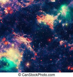 utrymme, vacker, nebulosa, bakgrund
