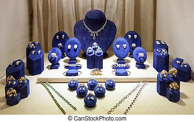 utställningsmonter, smycken