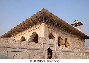 uttar, 赤, pradesh, agra., 城砦, インド