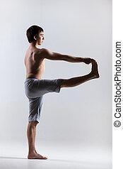 utthita, hasta, padangustasana, actitud del yoga