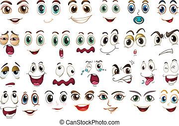 uttryck, ansiktsbehandling