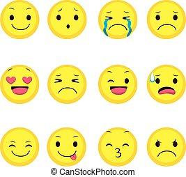 uttryck, kollektion, emoji
