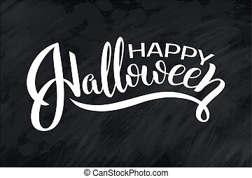 uttryck, textning, halloween., boo., stilig, vykort, text, nymodig, quote., horror., hand, bakgrund, parti, oavgjord, halloween, baner, night., lycklig