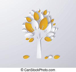 utumn, arbre