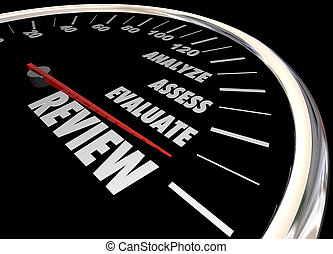 utvärdera, granska, illustration, fastställa, analysera, hastighetsmätare, 3