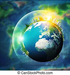 utveckling, begrepp, global, bakgrunder, miljöbetingad, sustainable