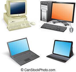 utveckling, dator