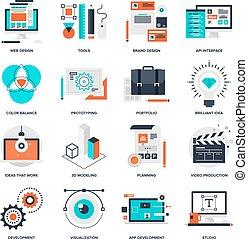 utveckling, design