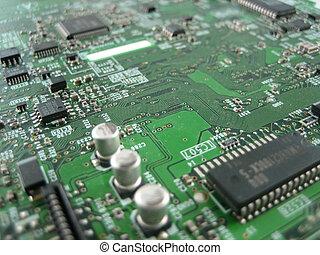 utveckling, elektronik, forska