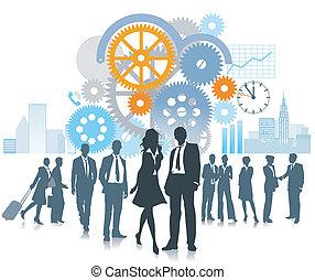 utveckling, företag, rörelse