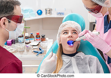 UV light in the patient mouth