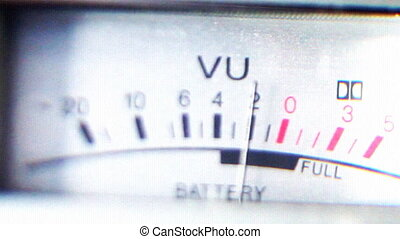 UV Power and battery levels on old ghetto blaster moving