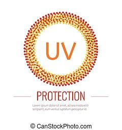 uv, proteção sol, ícone