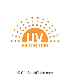 uv protection icon vector isolated, anti sun protect label -...